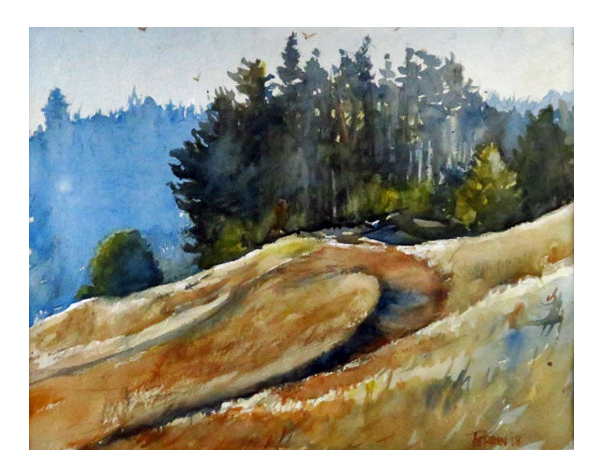 Lunch At The Depot A Joy Perrin Watercolor